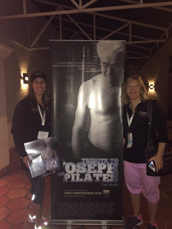 Jolene and Heather at the Tribute to Joseph Pilates World Premiere